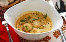 Champignon in salsa d'uovo
