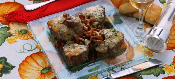 Palombo ai funghi chiodini - Secondi di pesce