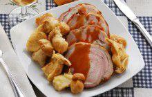 Arrosto di manzo con porcini fritti