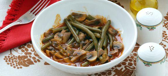 Ricetta champignon e fagiolini o tegoline - Come cucinare champignon ...