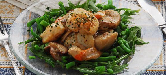 Frattaglie di pollo e funghi