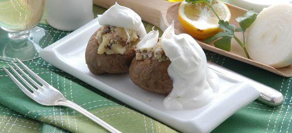 Patate con finferli e piopparelli