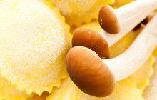 Ravioli con funghi pioppini