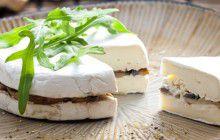 Brie ripieno di funghi arrosto