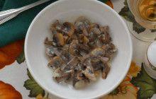 Champignon in salsa di panna acida