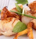 seared scallop with mushroom