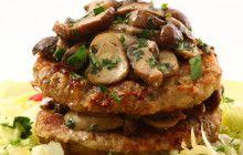 Hamburger di vitello con funghi porcini