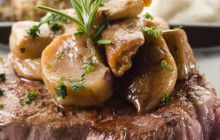 Filetto alla griglia con porcini e salsa alla senape