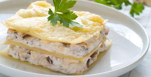 Lasagne di morchelle e crema di bruscandoli