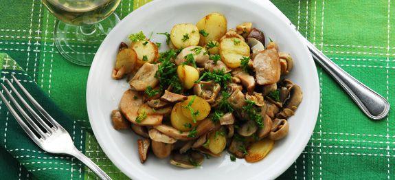 Funghi misti e patate