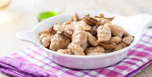 Gnocchi di castagne con funghi porcini