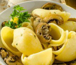 Lumaconi con funghi champignon