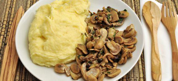 Purea di patate con funghi misti