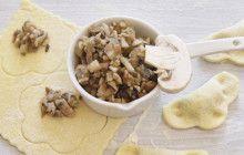 Tortelli ripieni di funghi champignon