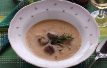 Zuppa di castagne e porcini