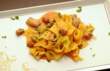 Pappardelle ai porcini and cinghiale